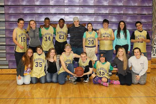 Unified Basketball Team Photo