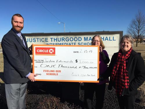 Circle K donates $1,000 to Justice through 'Fueling Our