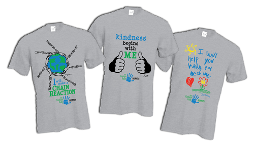 Winning T-shirt designs: Get yours at the Kindness Rally on ...